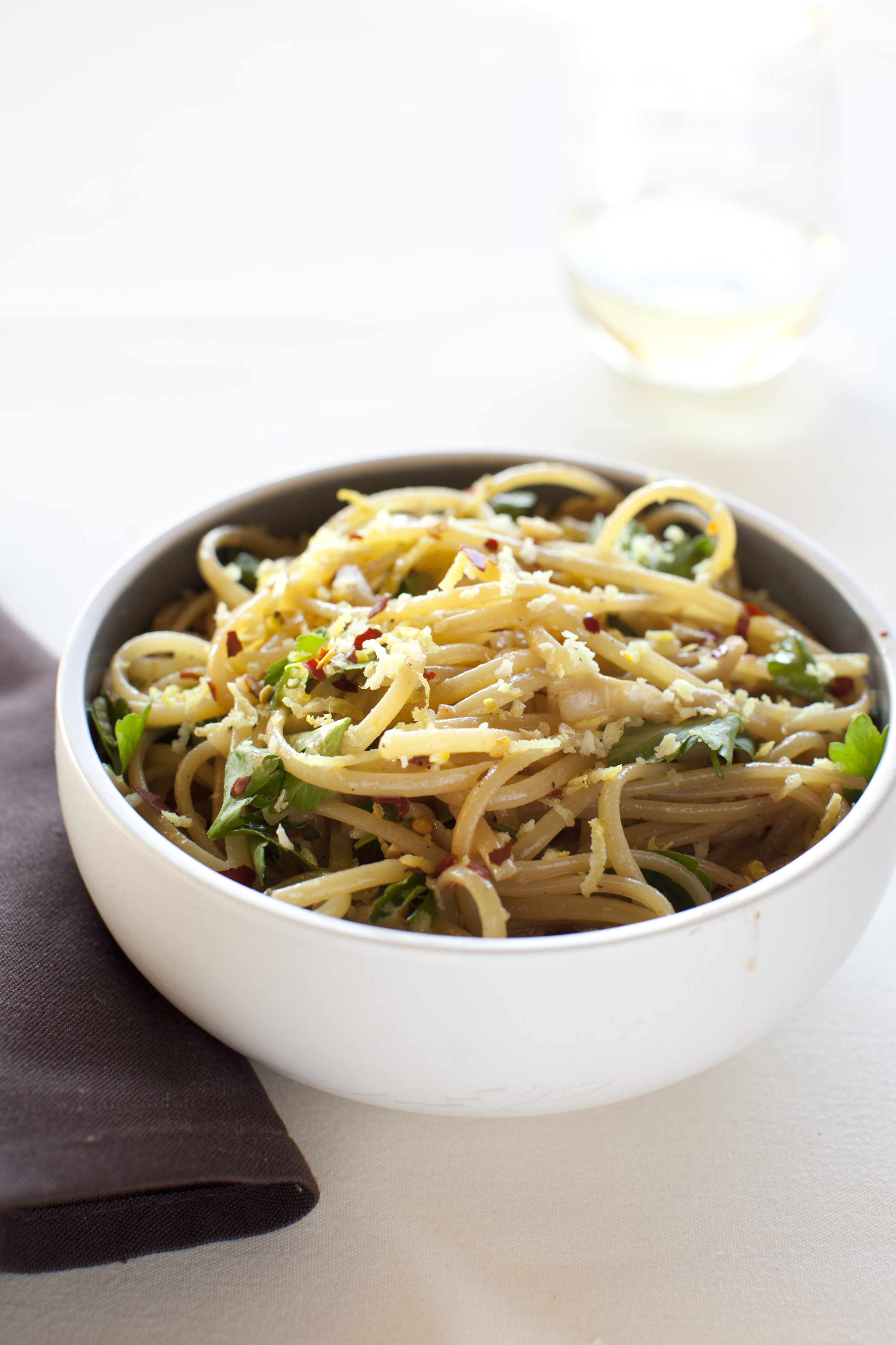 Cappellini With Lemon, Garlic And Parsley Recipes — Dishmaps