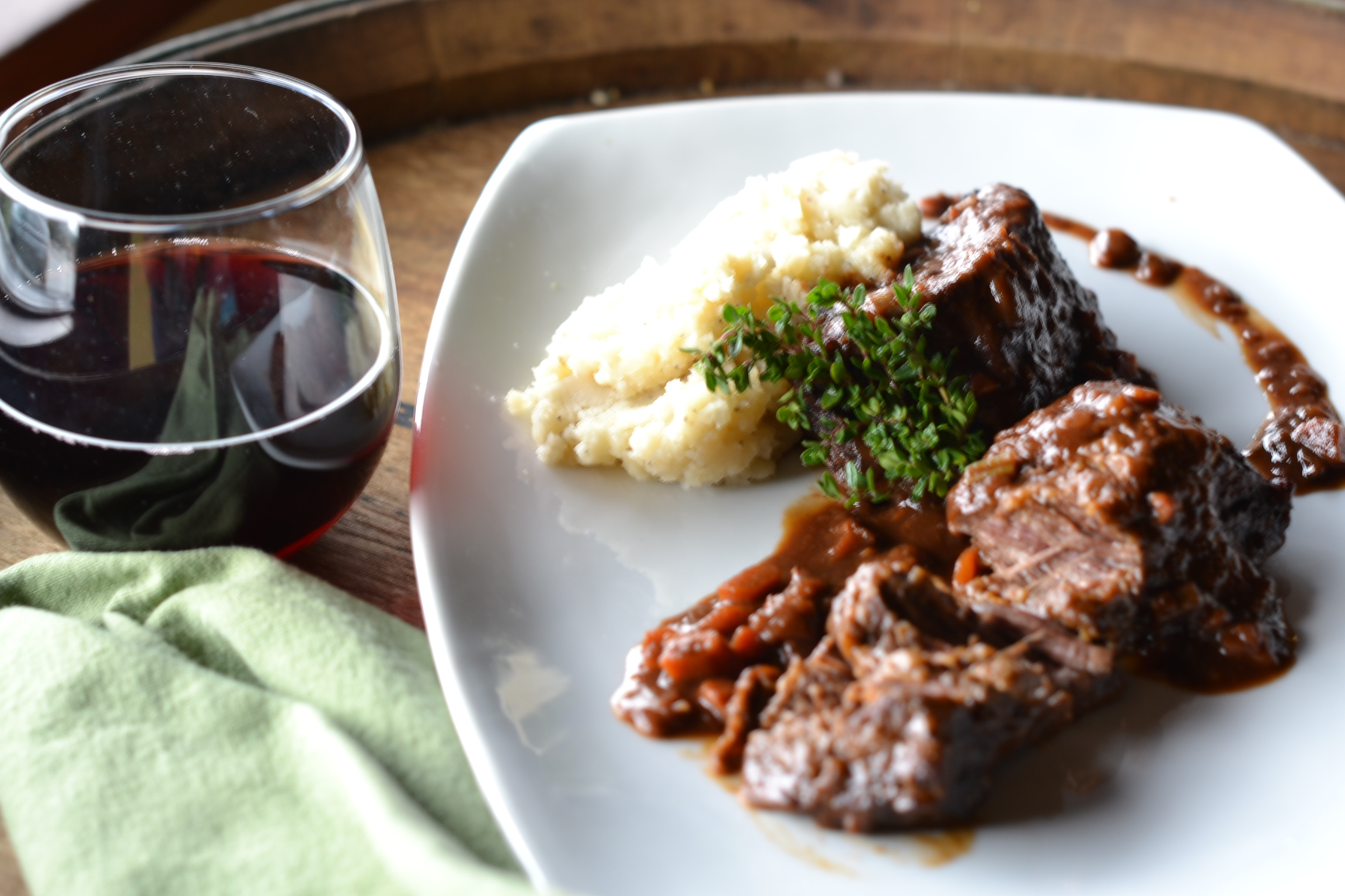 Braised Short Ribs With Porcini-Port Wine Sauce Recipe ...