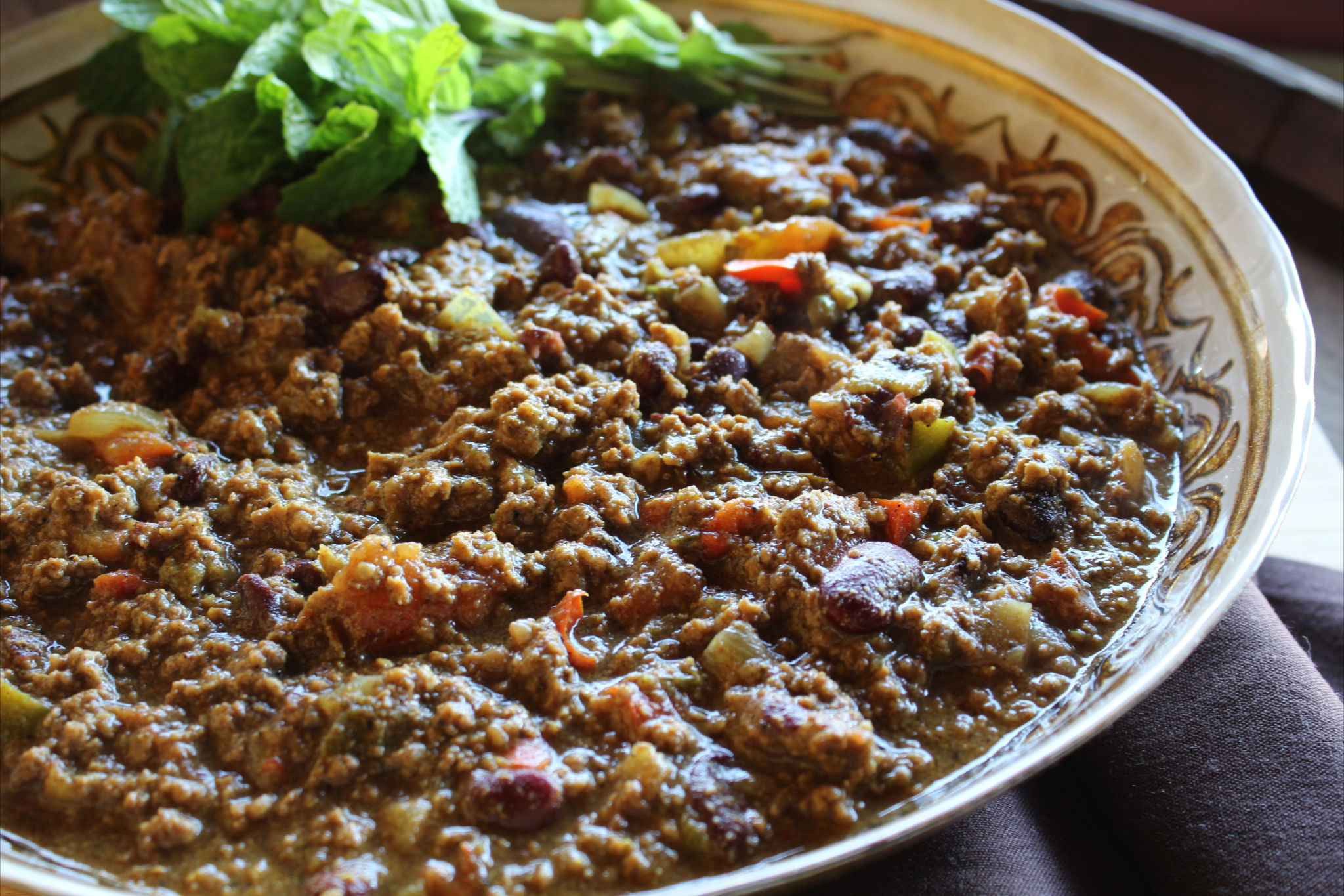 Home » General Recipes » Lamb & Kidney Bean Chili