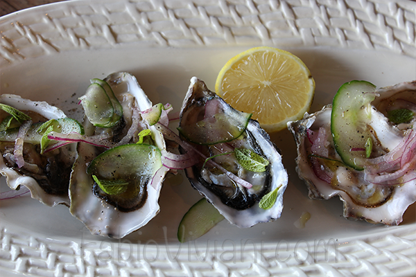 Oysters with Mint